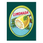Étiquette vintage de Limonada Carte Postale