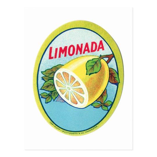 Étiquette vintage de Limonada Cartes Postales