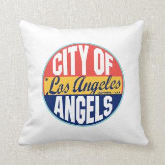 Étiquette vintage de Los Angeles Oreiller
