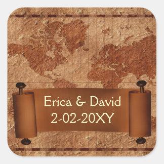 étiquette vintage de mariage de carte