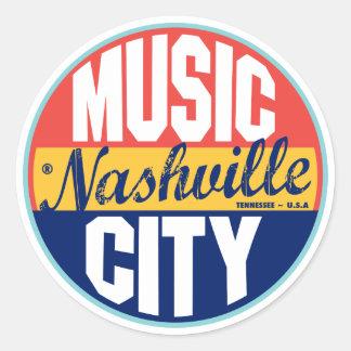 Étiquette vintage de Nashville Sticker Rond