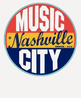 Étiquette vintage de Nashville T-shirts