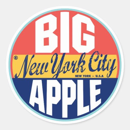 Étiquette vintage de New York Autocollant Rond