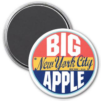 Étiquette vintage de New York Magnet Rond 7,50 Cm