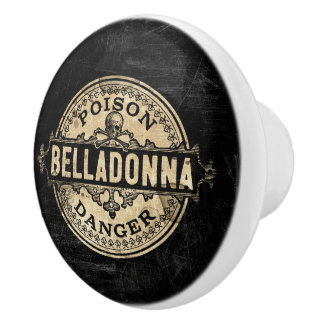 Étiquette vintage de poison de style de belladone