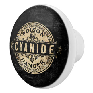 Étiquette vintage de poison de style de cyanure