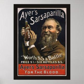 Étiquette vintage de produit, boisson de la poster