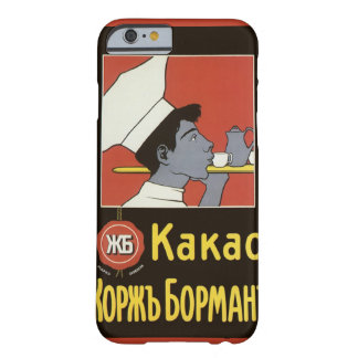 Étiquette vintage de produit, chocolat chaud russe coque iPhone 6 barely there