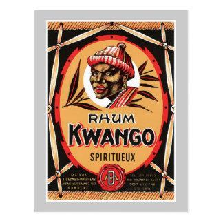 Étiquette vintage de produit de boisson alcoolisée carte postale