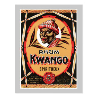 Étiquette vintage de produit de boisson alcoolisée cartes postales