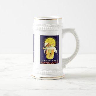 Étiquette vintage suprême de boisson alcoolisée de chope à bière
