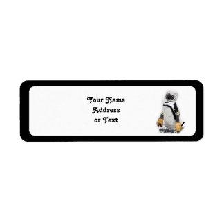 Étiquette Vitesse de port d'hockey de petit pingouin