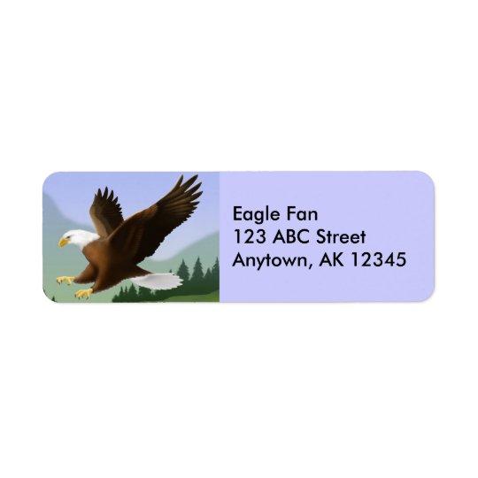 Étiquette volant d'Eagle chauve
