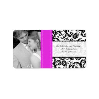 Étiquette Votre damassé vintage de roses indien de mariage