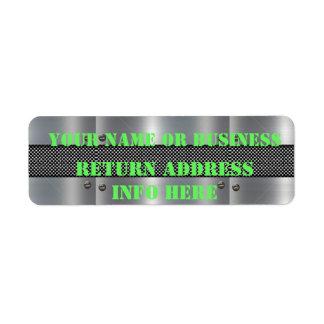 Étiquette Étiquettes adresse de retour