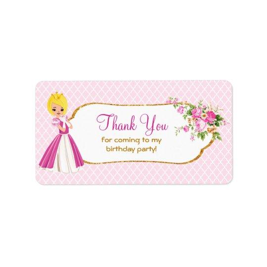 Étiquettes assez blonds de Merci de princesse