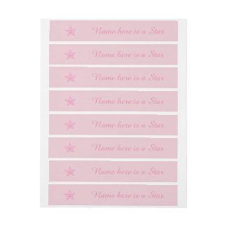 Étiquettes assez roses de coutume d'étoile
