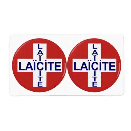 Étiquettes auto-collante drapeau suisse laïcité