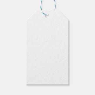 Étiquettes blanches de cadeau