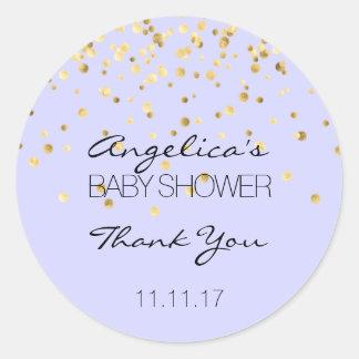 Étiquettes BLEUS personnalisés de baby shower d'or