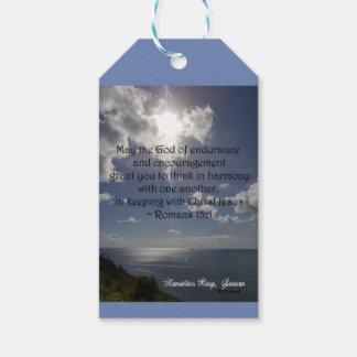 Étiquettes-cadeau 15:5 de Romains