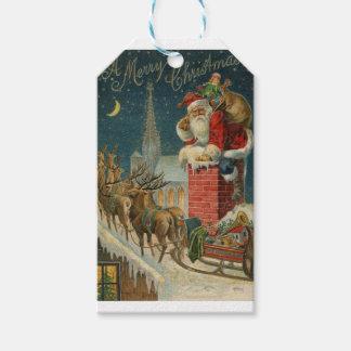 Étiquettes-cadeau Affiche 1906 clous de Père Noël de cru original