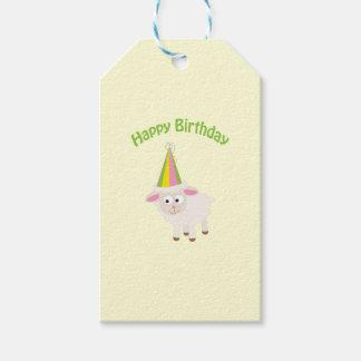Étiquettes-cadeau Agneau de joyeux anniversaire