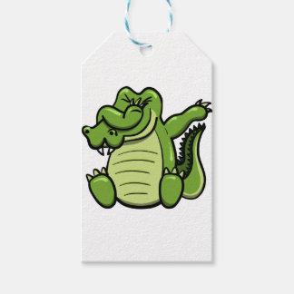 Étiquettes-cadeau Alligator tamponnant d'animaux