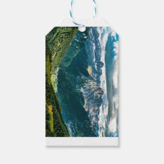 Étiquettes-cadeau Alpes de dolomites, Italie