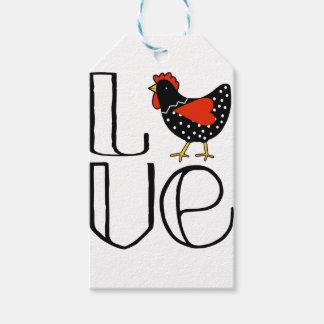 Étiquettes-cadeau Amour de poulet