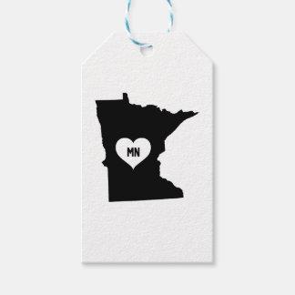 Étiquettes-cadeau Amour du Minnesota