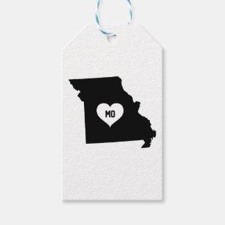Étiquettes-cadeau Amour du Missouri