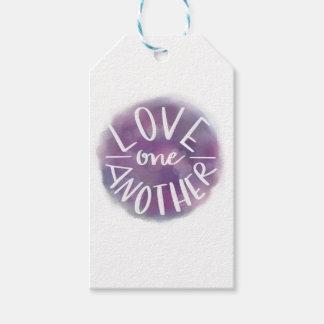 Étiquettes-cadeau Amour Main-En lettres un un autre de Bokeh