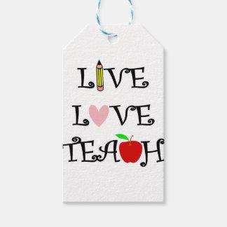 Étiquettes-cadeau amour vivant teach3