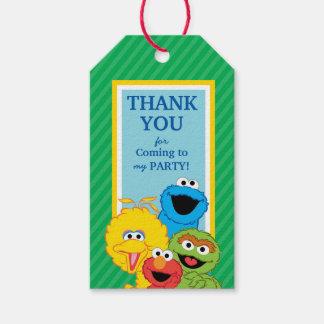Étiquettes-cadeau Anniversaire de copains de Sesame Street
