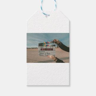 Étiquettes-cadeau Appareil-photo de cinéma de film