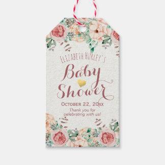 Étiquettes-cadeau Aquarelle élégante de Merci de baby shower florale