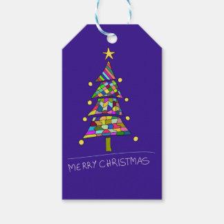 Étiquettes-cadeau Arbre de couleur de Noël