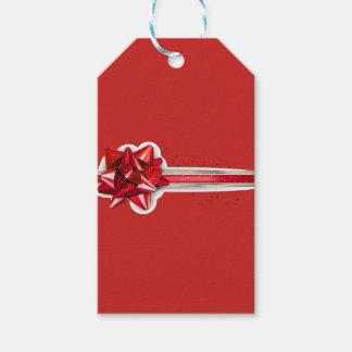 Étiquettes-cadeau Arc et ruban de Noël