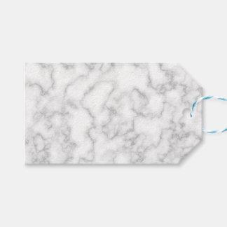 Étiquettes-cadeau Arrière - plan marbré de motif de pierre de marbre