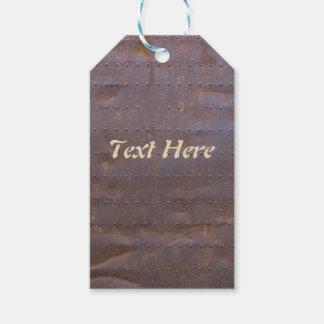 Étiquettes-cadeau Arrière - plan rouillé de texture de fer