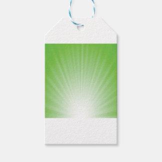 Étiquettes-cadeau Arrière - plan vert