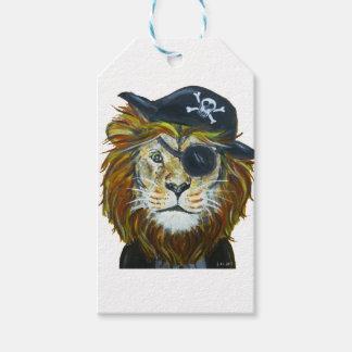 Étiquettes-cadeau Art de pirate de lion