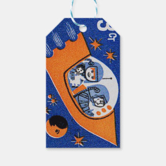 Étiquettes-cadeau Astronautes d'enfant
