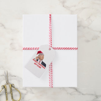 Étiquettes-cadeau Atout, le plus mauvais cadeau de Noël jamais !