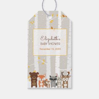Étiquettes-cadeau Automne de région boisée/faveur baby shower