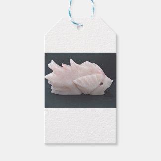 Étiquettes-cadeau Avant mystérieux soutenu épineux side1 de poissons