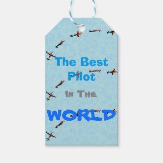 Étiquettes-cadeau avions de vol
