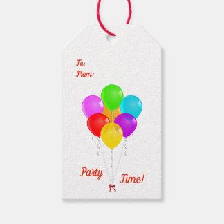 Étiquettes-cadeau Ballons de partie