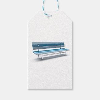 Étiquettes-cadeau Banc bleu